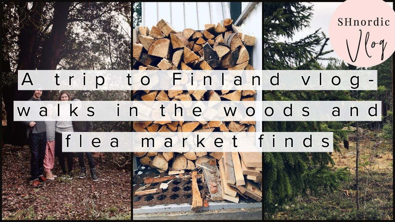 A trip to Finland vlog - walks in the woods and flea market finds