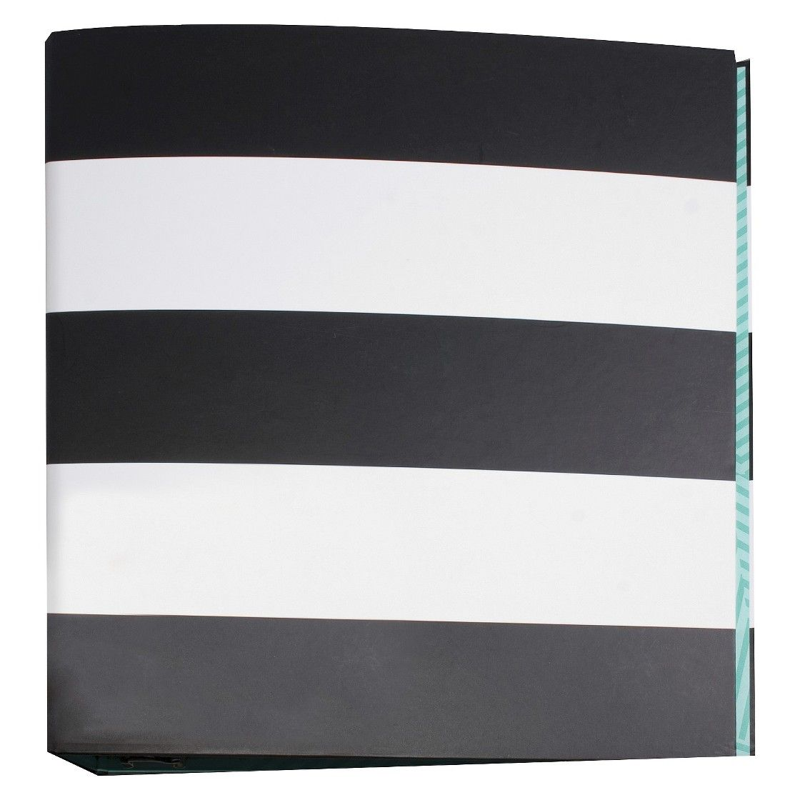 Room Essentials 1.5in Black And White 3-Ring Binder (With