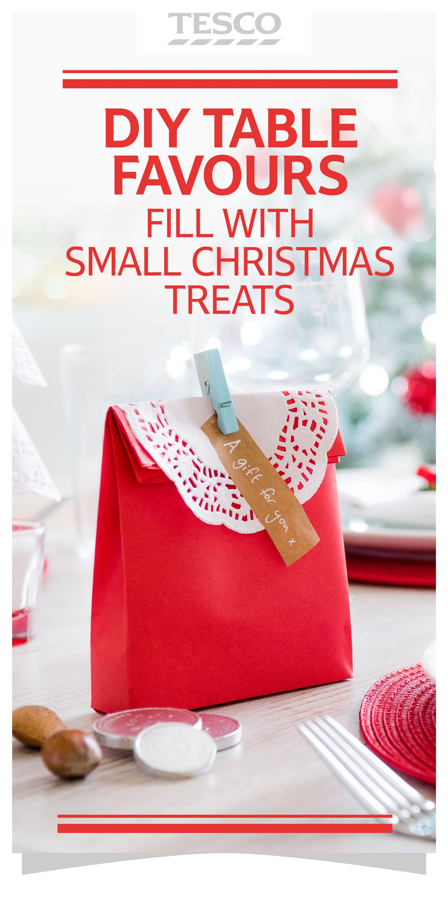 Discover how to make cute table favours for Christmas (ideal for storing  edible gifts)