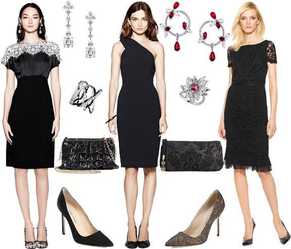Elegant Party Little Black Cocktail Dress Lace Dress