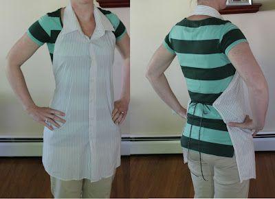 Cómo hacer un delantal re-utilizando camisas de hombre.