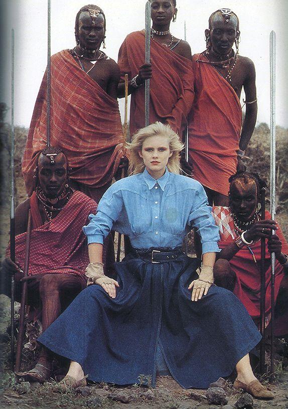 Peter Beard, Vogue Paris, May 1985, Thierry Mugler, Kenya
