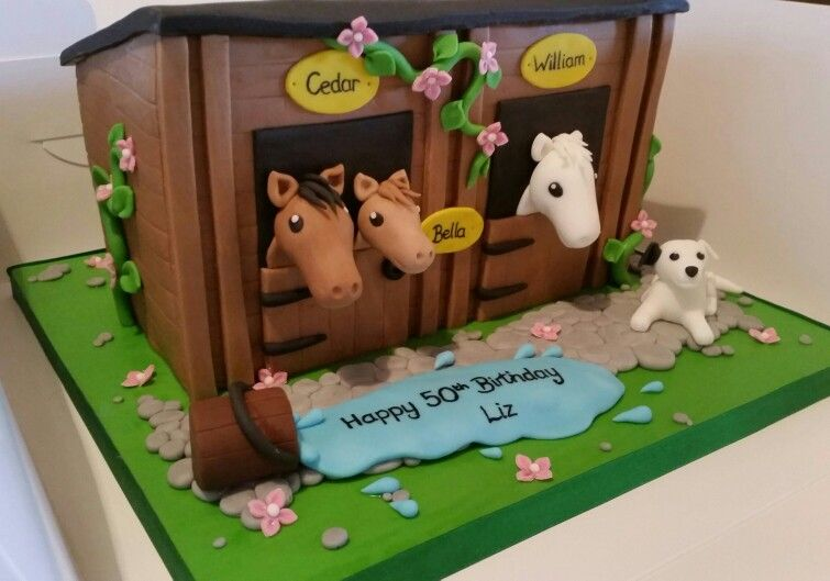 Horse Stable Birthday Cake Horse Cake Pony Cake 6th Birthday Cakes