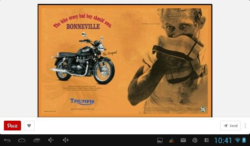 Triumph ad with Steve M Queen