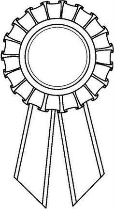 Dibujo Para Colorear Medalla Premio Buscar Con Google Con