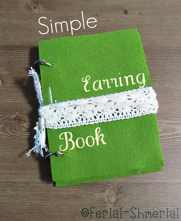 DIY Earring Holder Book I am so making this My earrings are so