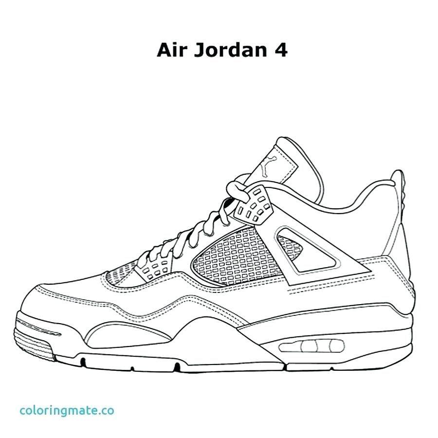 4 Jordan Shoes Coloring Pages Coloring Book Nike Shoe Coloring Sheets To Print Lebron In 2020 Sneakers Drawing Jordan Coloring Book Shoe Template