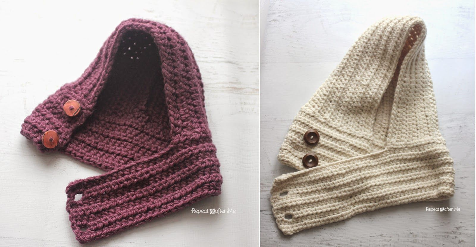 Hooded Crochet Cowl with Lion Brand Thick & Quick Yarn #Scarfie ...