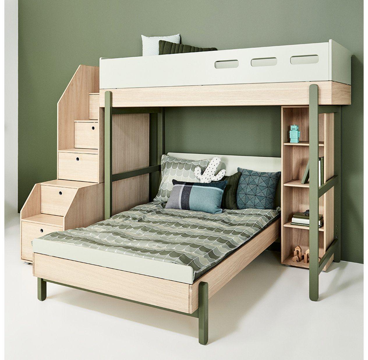 Lit Superpose Et Mezzanine In 2020 Diy Bunk Bed Childrens Furniture Flexa Bed