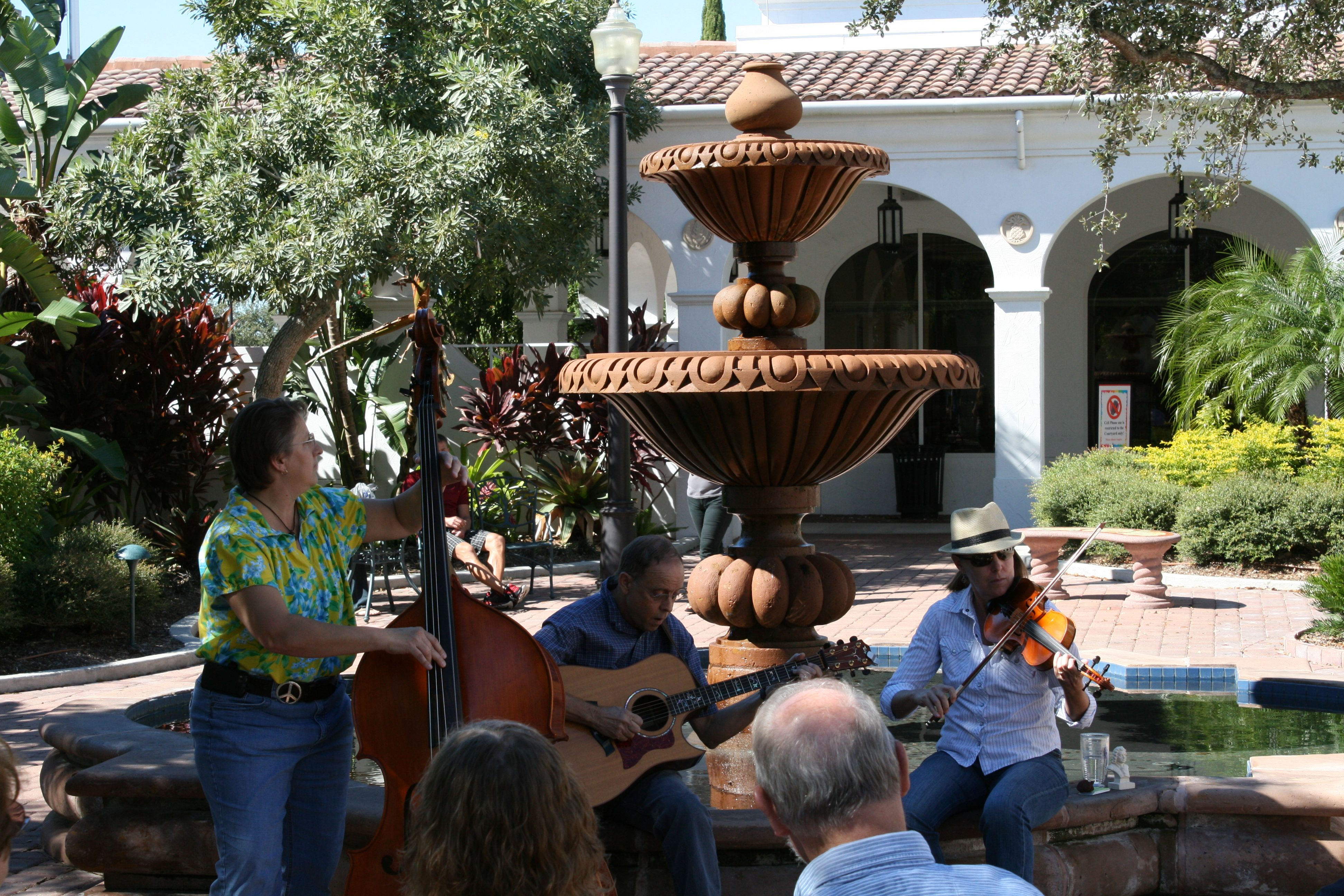 The Bean Pickers playing in the HQ Courtyard