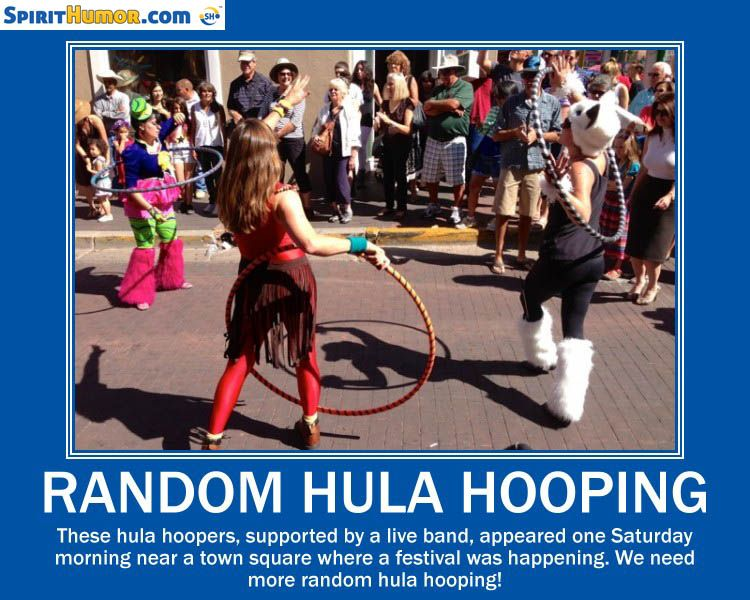 Some things don't leave room for ill will or bad actions. Hula hooping is one of them.
