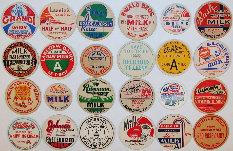 3 Vintage Montana  Cream Milk Bottle Caps