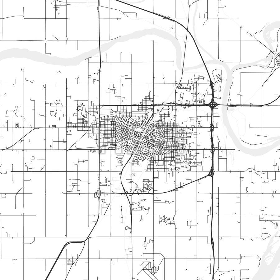 Muskogee Oklahoma Area Map Light Muskogee oklahoma
