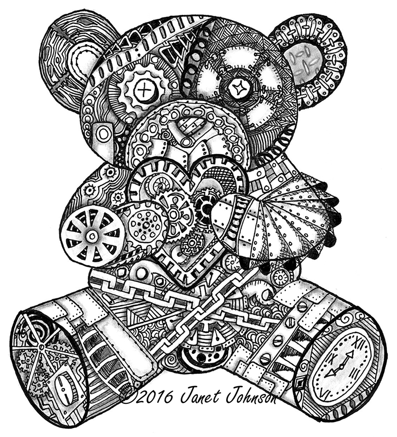 Steampunk bear Janet Johnson
