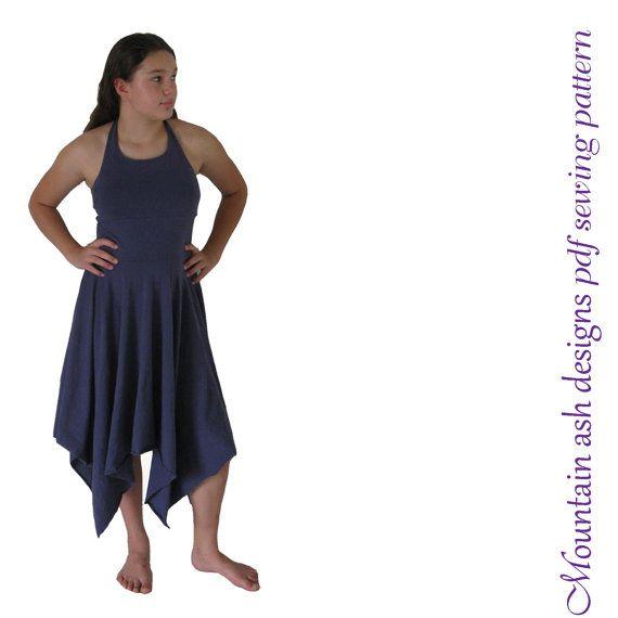 Maria dress sewing pattern pdf halter neck sundress ballt dance ...