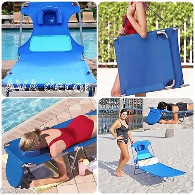 Perfect Tanning Chair Chaise Lounge Patio Beach Fold Pool Sun Tan Ladies Face Down  Lawn