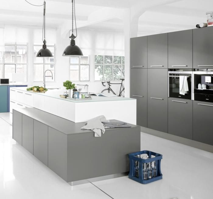 German Kitchen Designs: Nolte German Kitchen - Soft Lack