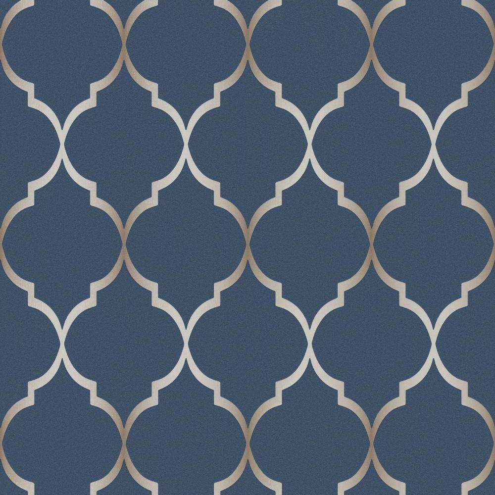 Rasch Wallpaper Sight Seeing Trellis Navy 701647 Blue And White Wallpaper Blue And Gold Wallpaper Trellis Wallpaper Elegant navy blue wallpaper for walls