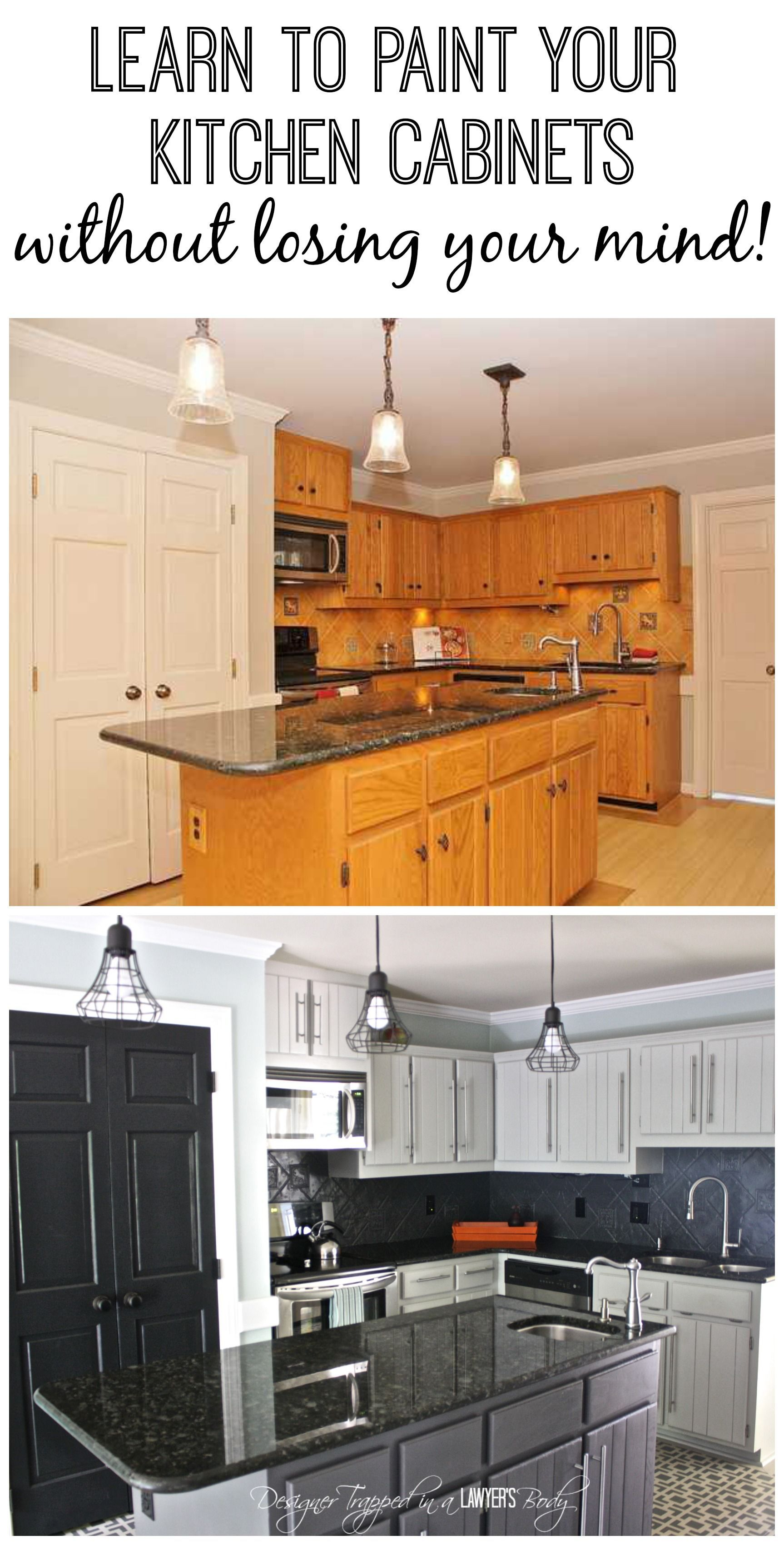 Learn To Paint Your Kitchen Cabinets Without Losing Your Mind