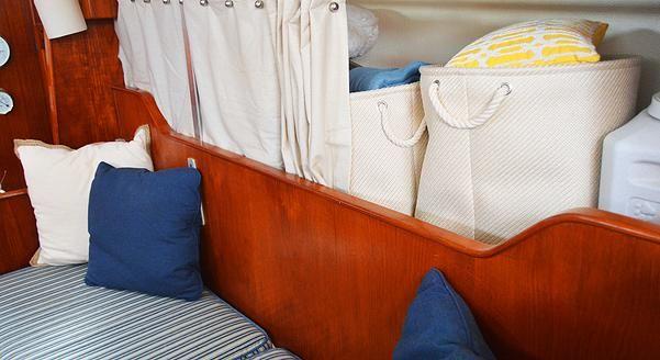 Sail Away Blog   Sailboat Interior   Cute Design With Smart Storage Ideas!  S/