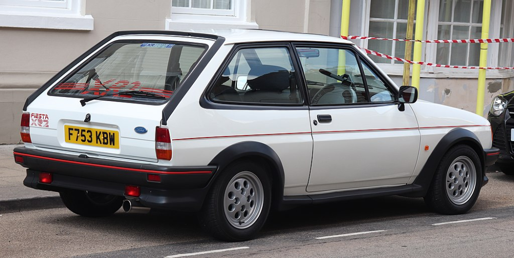 1989 Ford Fiesta Xr2 16 Rear Ford Fiesta 2nd Generation Wiki