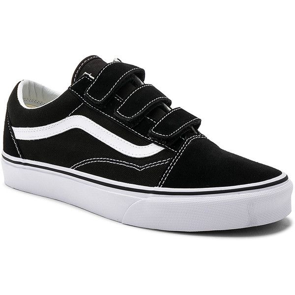 Vans Old Skool V ($75) ❤ liked on Polyvore featuring men's fashion, men's  shoes, men's sneakers, sneakers, mens velcro sneakers, vans mens shoes, ...