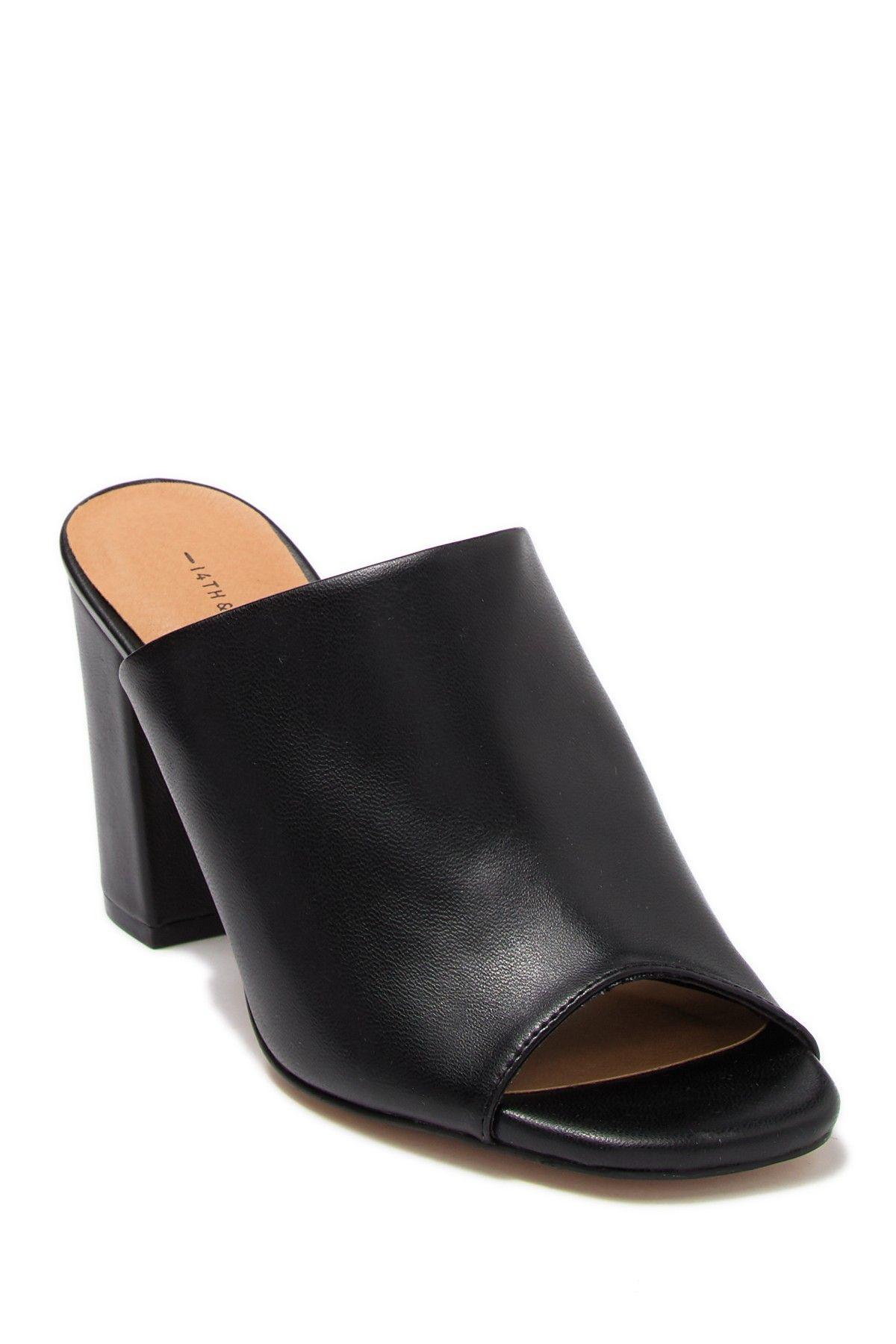 Details about  /find Women/'s Block Heel Mule Open-Toe Sandals Heeled