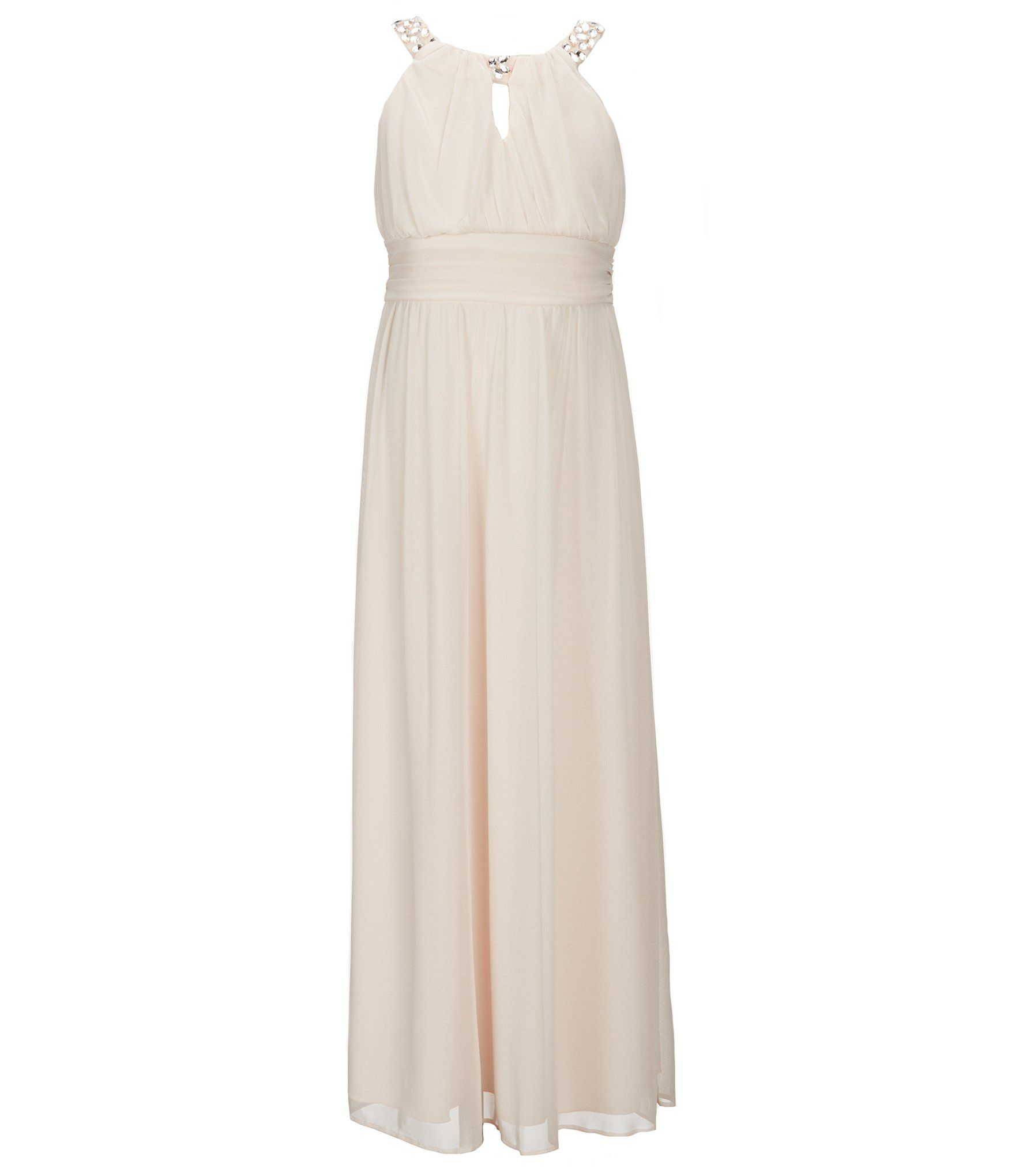 152e30f68f30 Shop for Tween Diva Big Girls 7-16 Chiffon Embellished Long Dress at ...