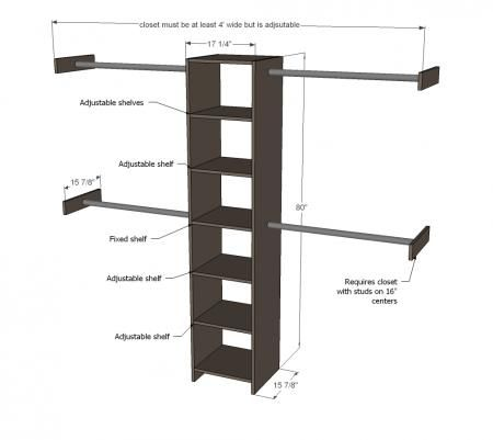 Closet Organizer From One Sheet Of Plywood Build A Closet Bedroom Organization Closet Diy Closet