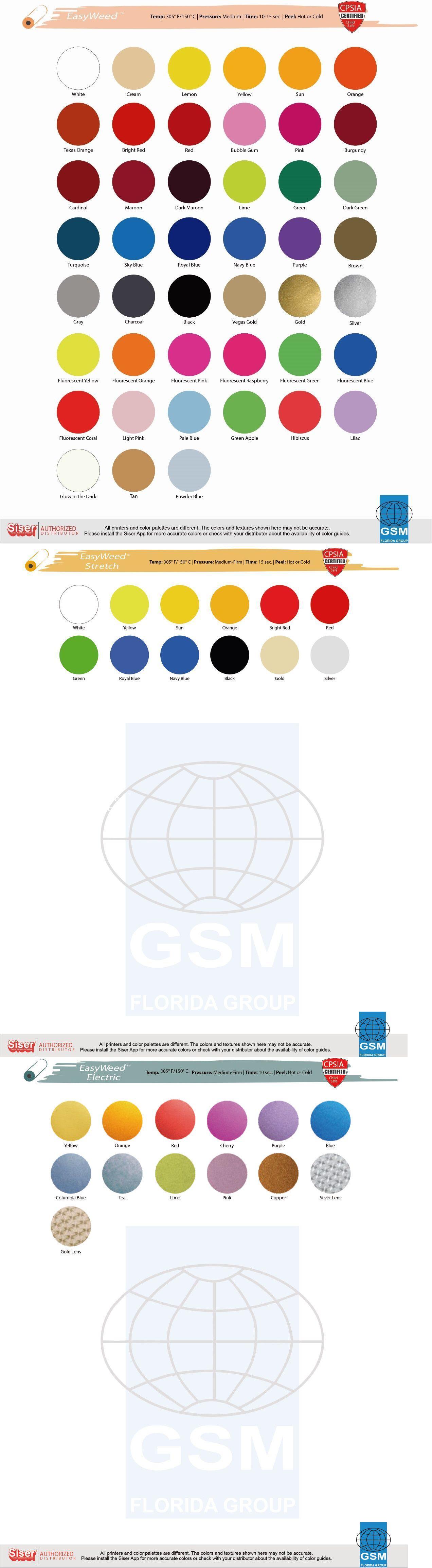 Siser Easyweed Htv Heat Transfer Vinyl 15 X 1 5 Yds For T Shirts Textile Heat Transfer Vinyl Siser Siser Easyweed