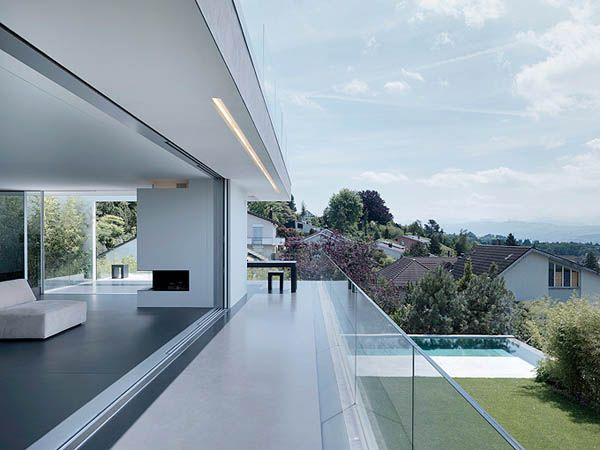 Contemporary Family Home Exposed To Inspiring Lake Zurich Views