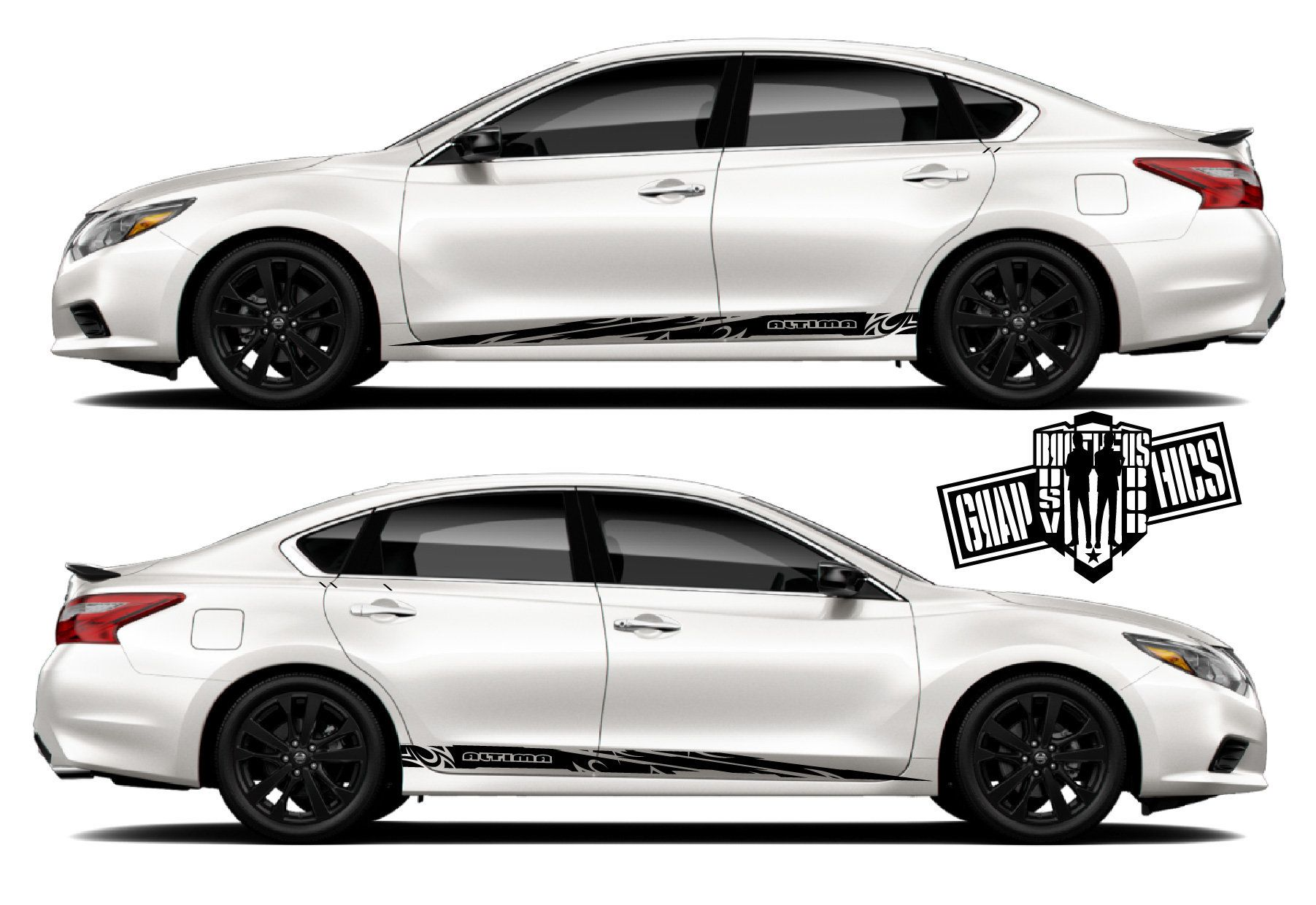 2x Rear Bed Decal Sticker Kit For Nissan Altima Sport Stripes Etsy Nissan Altima Altima Stripe Kit
