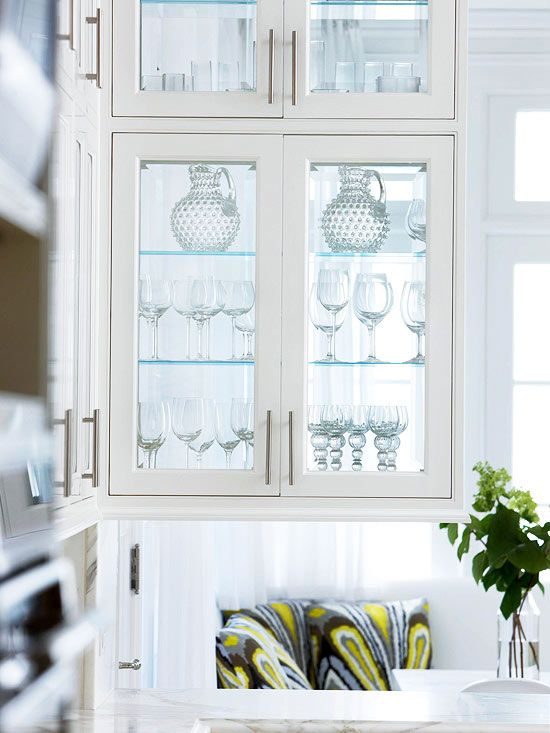 Glass Front Cabinetry | Small Corner Cabinet, Glass Front Door And Small  Corner