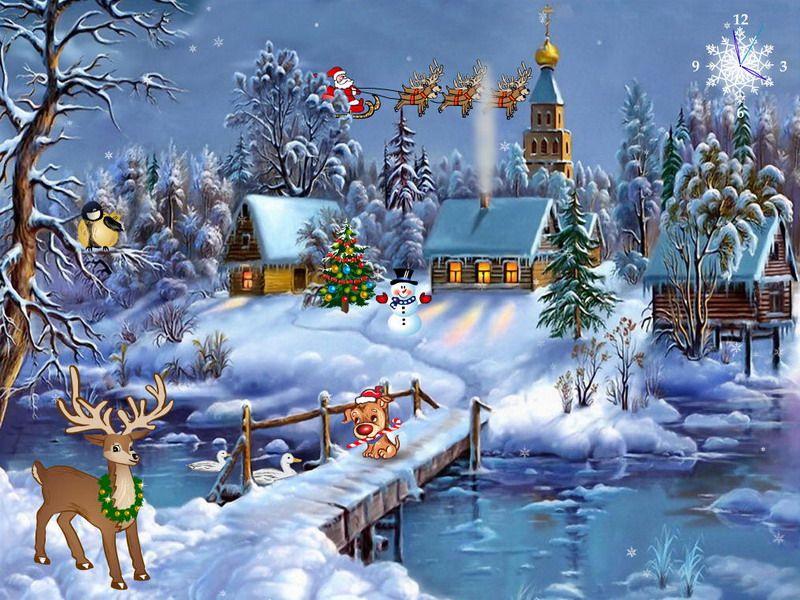 Free Screensavers Free Christmas Screensaver Christmas Symphony Fullscreensavers Com Christmas Scenes Christmas Pictures Christmas Art