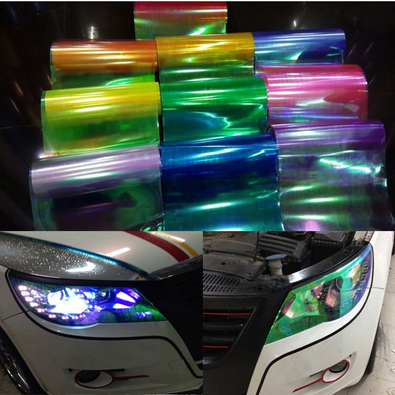 Taillight Glossy Car Cover Multi-color Vinyl Film Tint Sheet Sticker