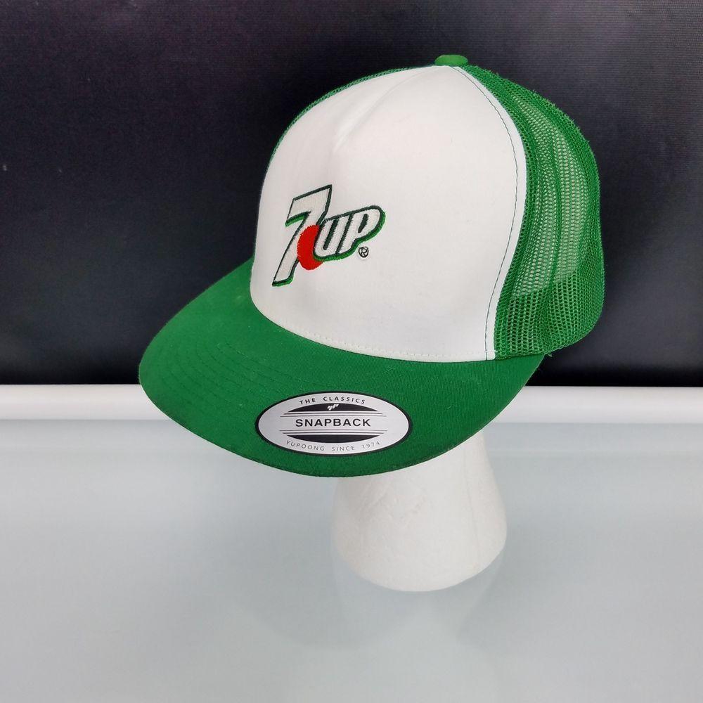 Green 2288 7up Soda Pop Trucker Hat Vintage Style Mesh Back Snapback Cap