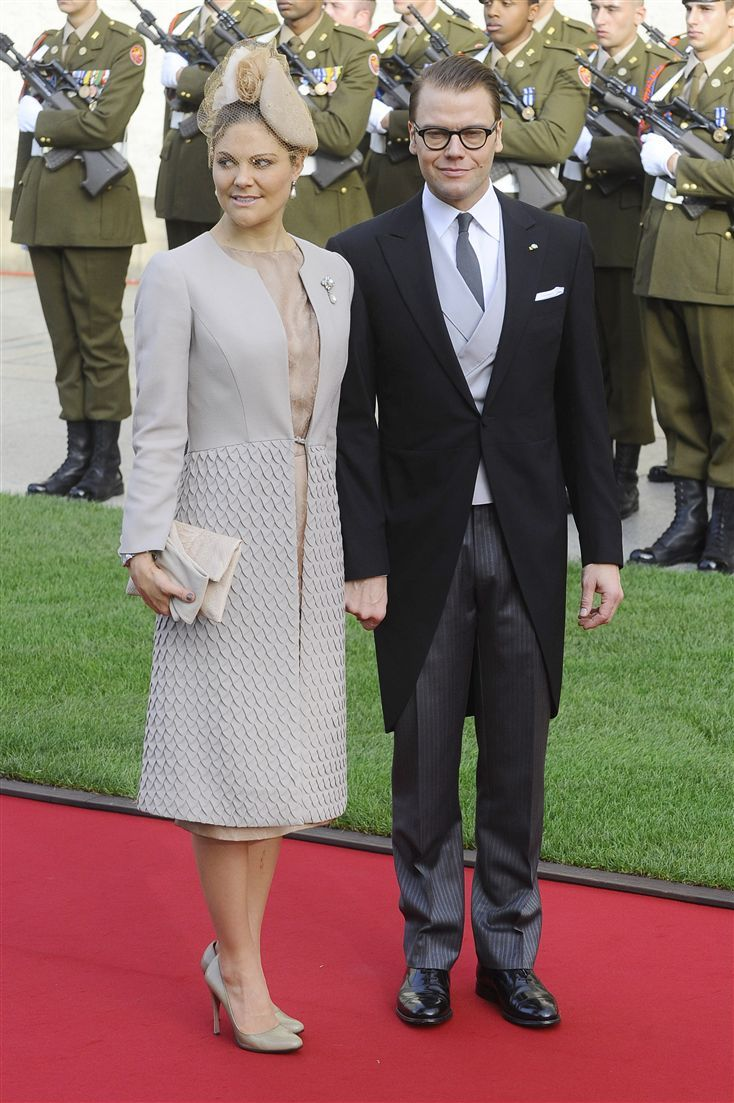 Crown Princess Victoria and her husband, Daniel at the Wedding of Prince Guillaume and Princess Stephanie
