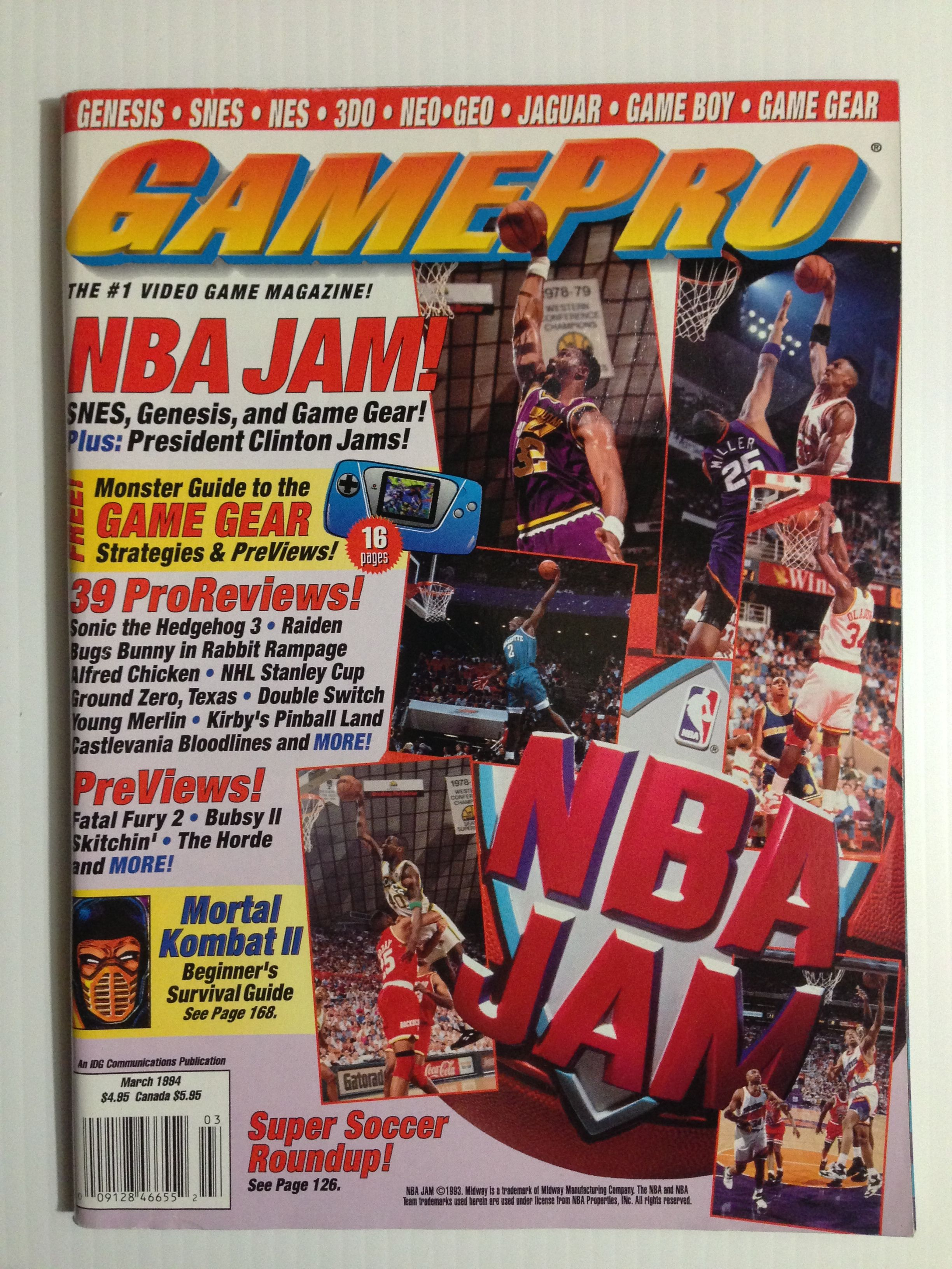 GAMEPRO Mar.94 gaming gamer magazines (With images