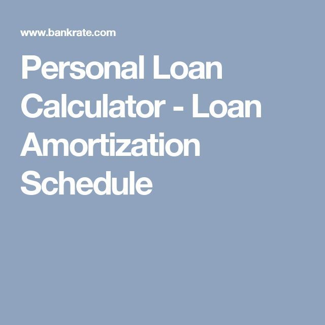 personal loan calculator loan amortization schedule fast lender