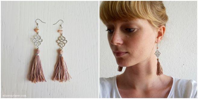 NUDE FRESHWATER PEARL EARRINGS #diy #tassels #pearls #jewelry