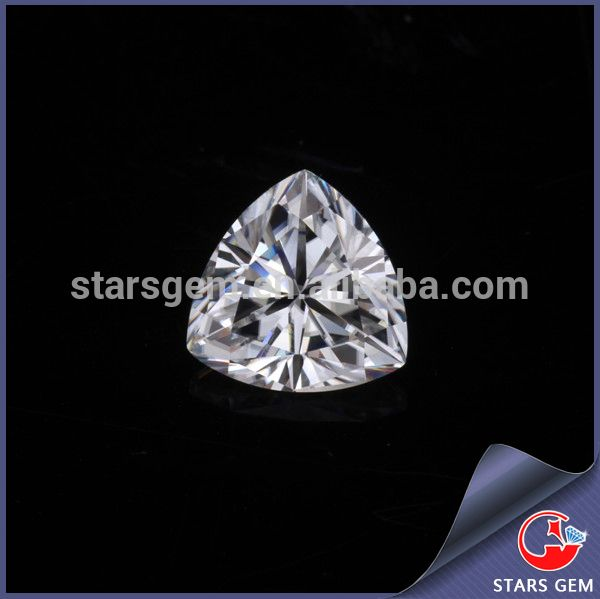 White Loose Moissantie Diamond Factory China Wholesale Trillion Cut