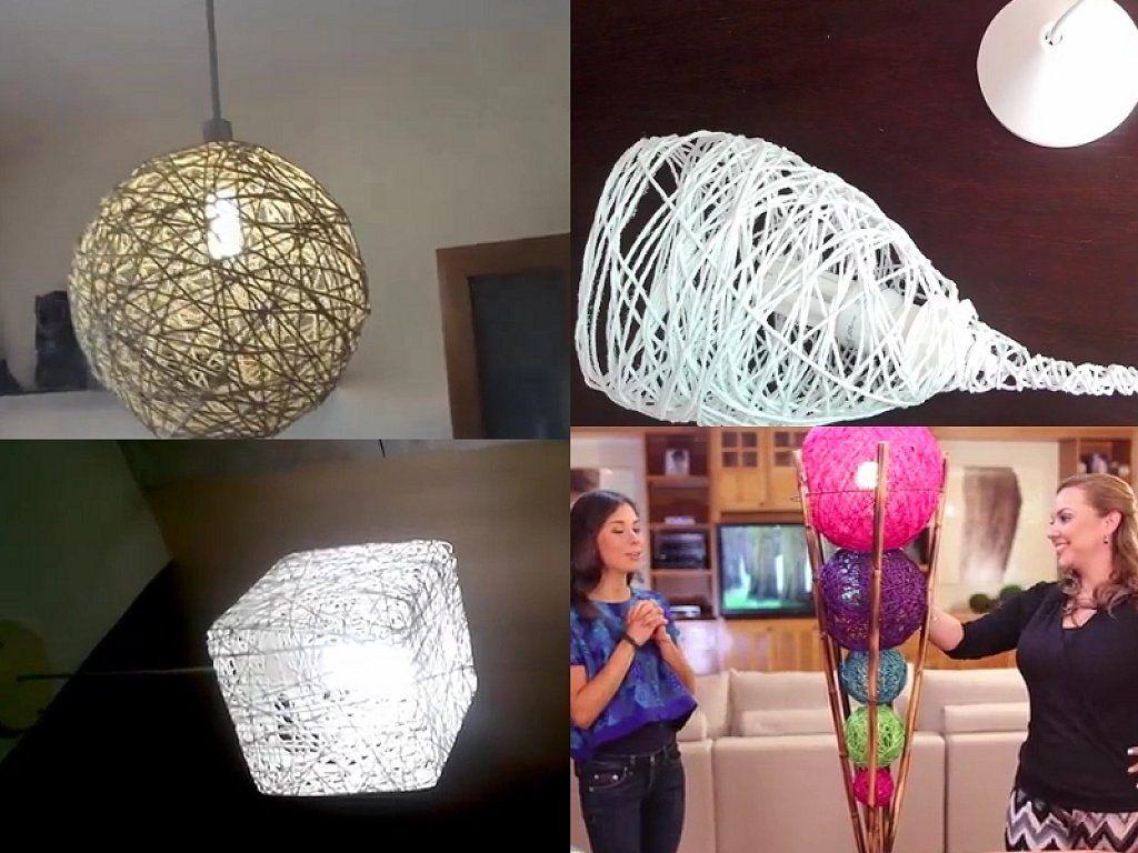 Haz tu propio dise o de las l mparas de cuerda y globos - Manualidades con lamparas ...