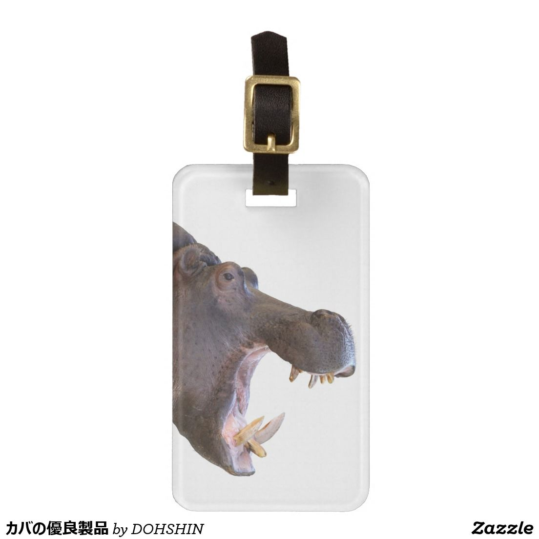 Superior product of hippopotamus tag for bags