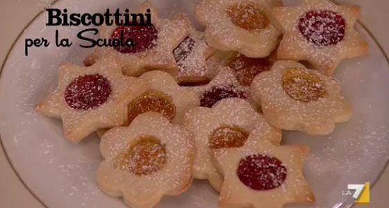 Stella Di Natale Di Benedetta Parodi.Biscottini Con La Marmellata Per La Scuola Di Benedetta Parodi