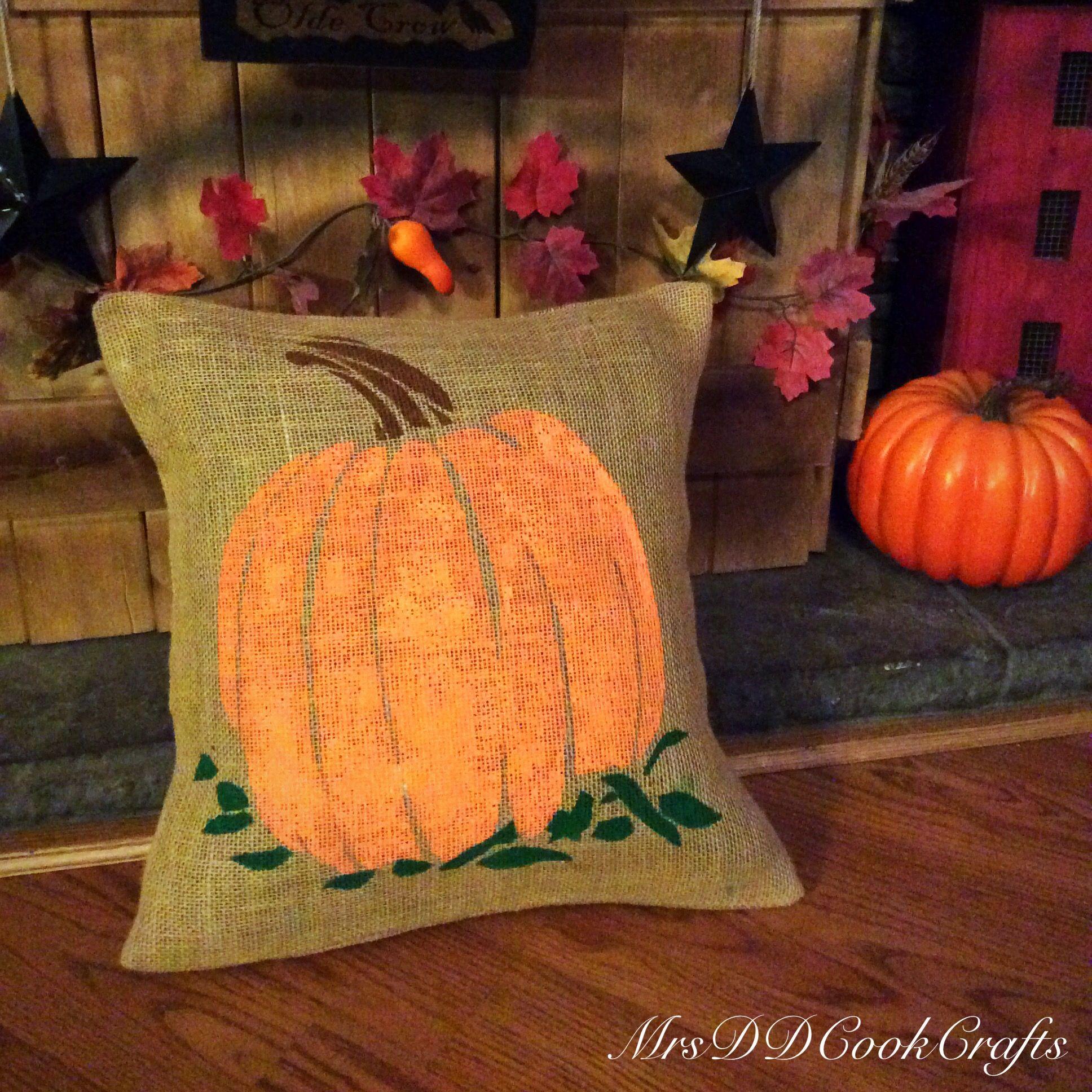 Pumpkin Pillow, Thanksgiving Pillow, Fall Greetings Pillow ...