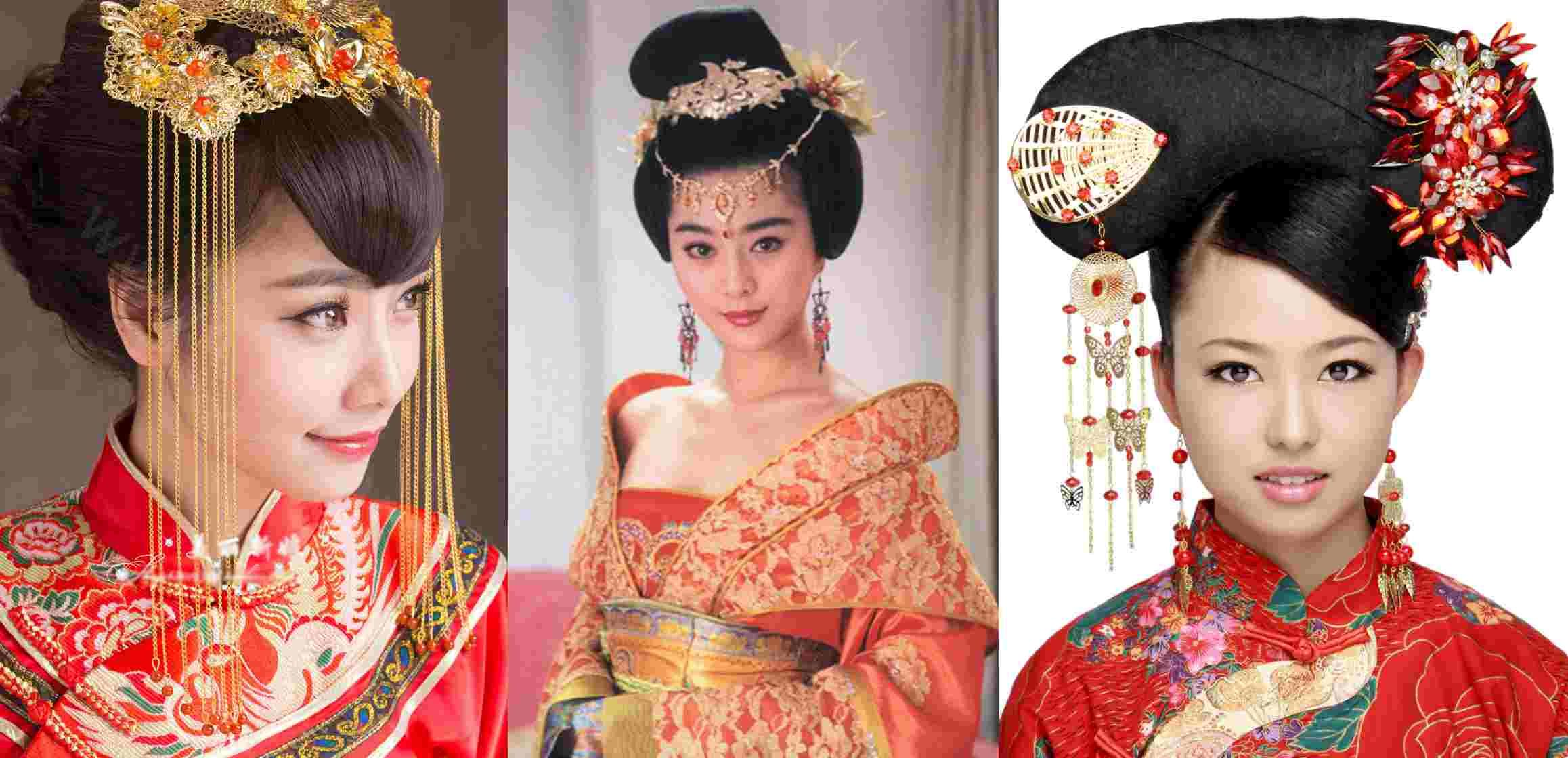 ancient-chinese-hairstyle (2316×1119) | festa chinesa | pinterest