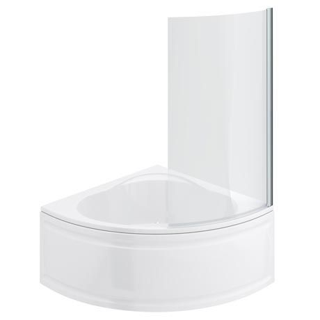 Laguna Corner Shower Bath With Screen Panel Penny S