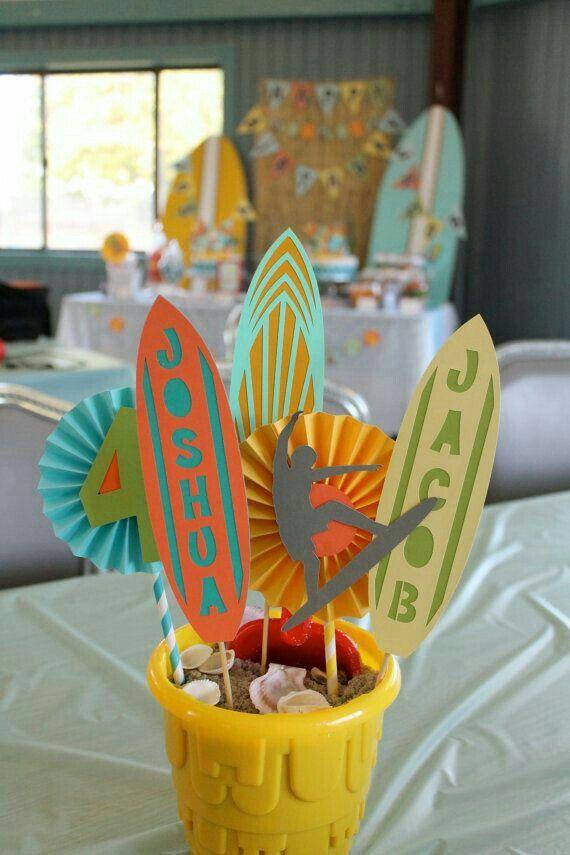 Pin de marta moreno en fiestas pinterest fiesta hawaiana fiesta y decoracion fiesta - Decoracion surfera ...