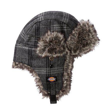 7e65fd53e Dickies® Men's Trapper Hat with Faux Fur - Grey Plaid | My Dream ...
