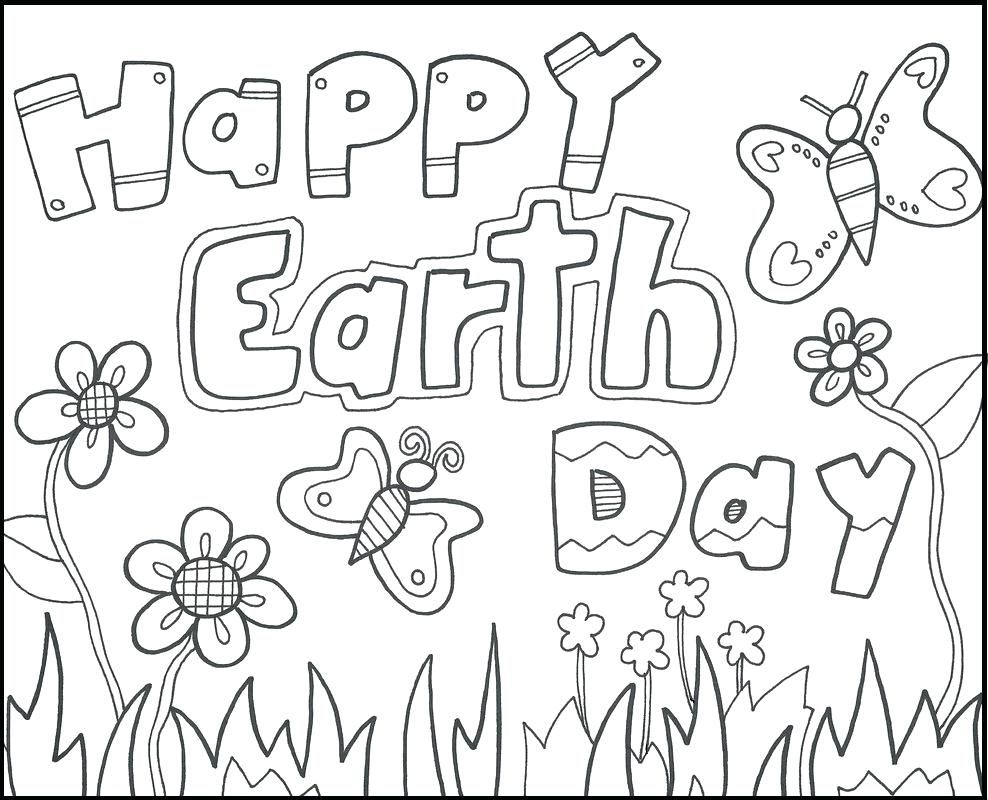 Coloring Printable Earth Day Coloring Pages With Images Earth